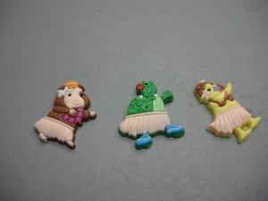 Set of 3 Wonder Pets Crocs Shoe Charms Linny Tuck Ming Ming Noggin Nick Jr