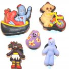 5 In The Night Garden Shoe Charms Upsy Daisy Makka Pakka IgglePiggle Haahoo