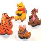 4 Winnie The Pooh Shoe Charms Winnie The Pooh Kanga Roo Tigger