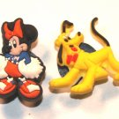 Set of 2 Cheerleader Minnie Mouse and Pluto Crocs Shoe Charms