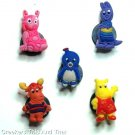 Set of 5 Backyardigans Crocs Shoe Charms Pablo Tyrone Tasha
