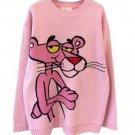 Pink Panther Cartoon Sweater women's Winter