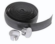 Padded HANDLEBAR TAPE and Plugs for road bicycle, BLACK ... S&H is $3.95 or $1.95