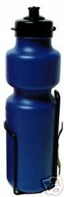 28 ounce WATER BOTTLE & CAGE for bicycle, BLUE bottle .... S&H is $3.95 or $1.95