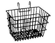 Lift-off basket for bicycle handlebar.  Steel.  Black.  NEW. ...S&H is $10.95 or $4.95
