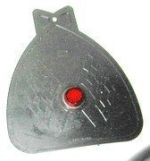 Mud Flap, bolts to bicycle fender. Has reflector....S&H is $3.95 or $1.75