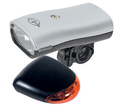 Head & Tail  light for bicycle.   Batteries included.  The brand is SUNLITE....S&H $5.95 or $2.95