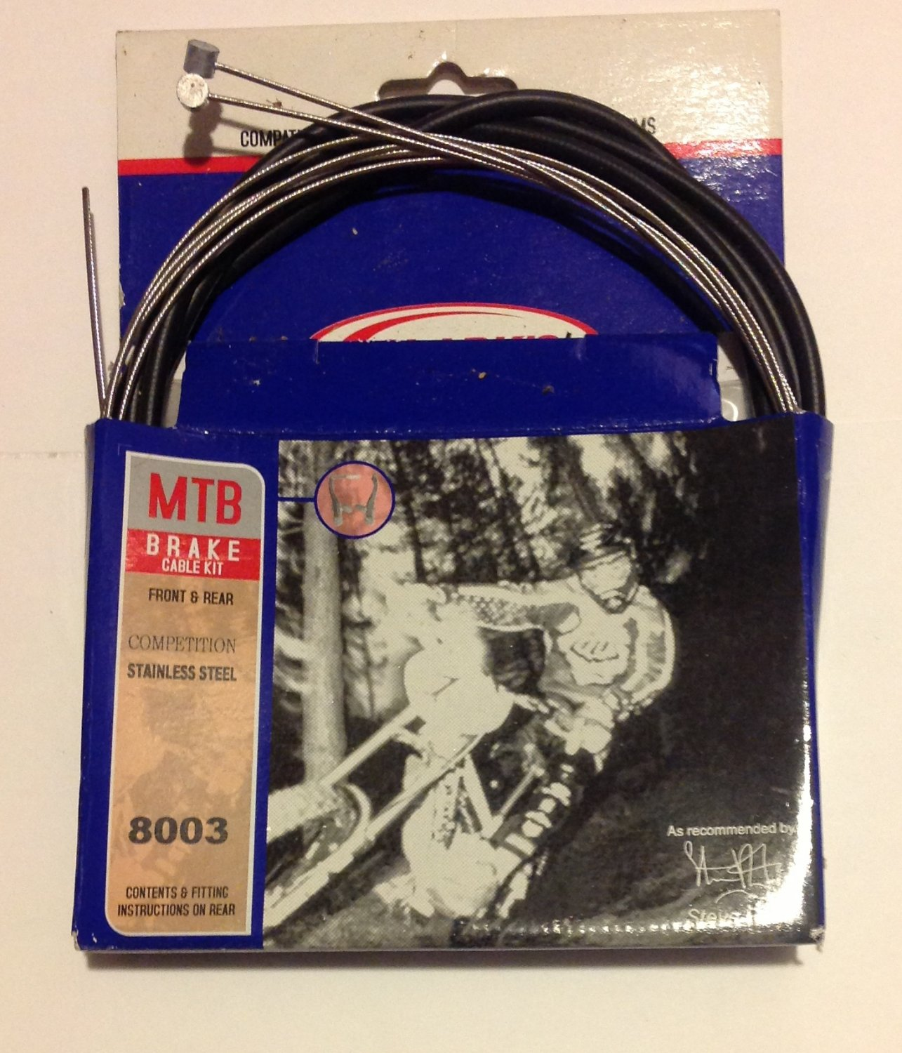 Bicycle BRAKE CABLE Front and Rear for ATB, MTN .... Has barrel end .... S&H is $4.95 or $2.50