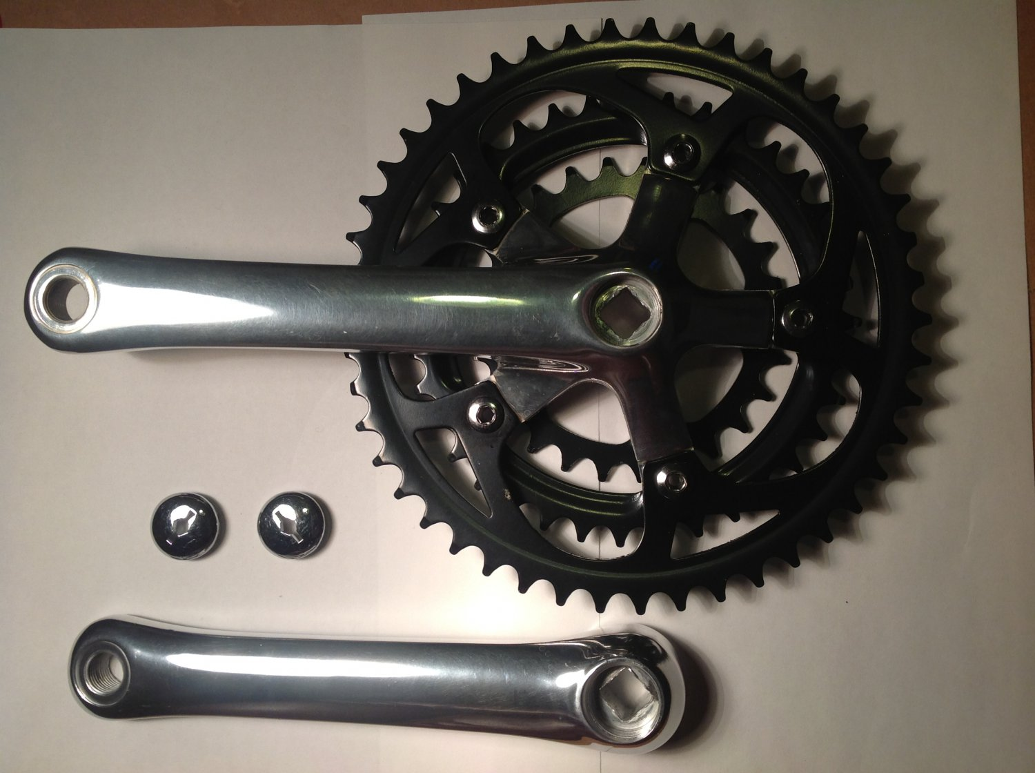 Triple Cotterless Crank Set for 3-piece cranks.  26 - 36 - 46 teeth.  Right and left arms