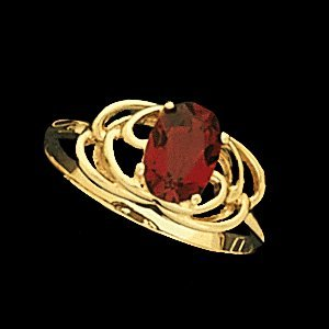 Rd7597h-ladies Colored Stone Ring With Synthetic Stone Pick Color