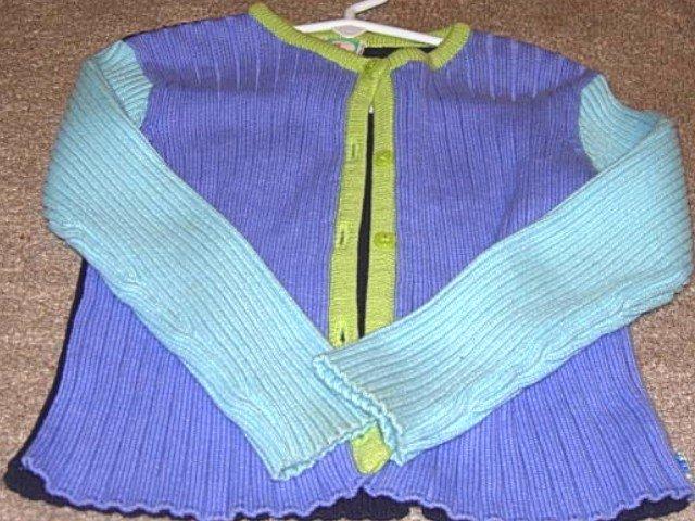 GYMBOREE SPRING SHOWERS Color Block Cardigan Sweater 4