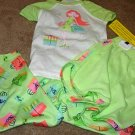 Girls CARTERS Green Shopping Girl 3-pc Pajamas 4 NWT