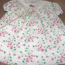 Girls White Floral Print Dress 3
