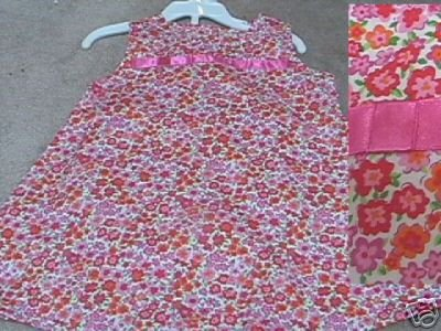 Boutique PENELOPE MACK Floral Print Dress 18mo NEW NWT