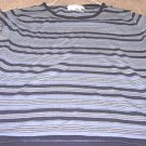 Ladies JONES NEW YORK Gray Striped Top 8P