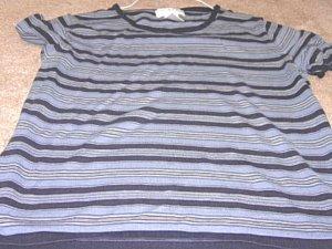 Ladies JONES NEW YORK Gray Striped Top 8P