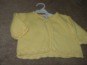 Girls GYMBOREE FLORAL PATCHWORK Yellow Cardigan 3/6mo