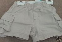 Boys LANDS END Khaki Cargo Shorts 6mo
