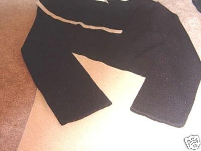 Ladies US THREE Black and Tan Sweater S