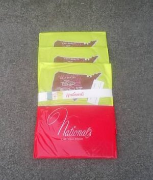 3 Pairs Vintage National Nylon Stockings Hosiery Size B New