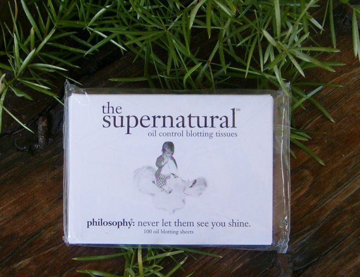 Philosophy The Supernatural Oil Control Blotting Tissue Papers 200 Count $20 Retail FREE SHIPPING