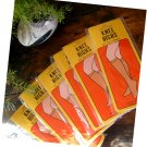 Vintage 1960s 1970s National Sandalfoot Hosiery Stockings KNEE HIGHS 2 Pairs Set New In Package