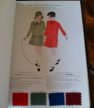 1927 Garment Clothing Catalog Merry Anne Dress Co Happy Jack Boy Suits Fabric Samples New Haven Ct