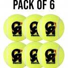 PACK OF 6 SOFT CRICKET BALSS TENNIS BALLS PRACTISE BALLS HIGH QUALITY CRICKET BALLS