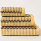 YELLOW AND GREY JACQUARD TOWEL 100% COTTON SOFT TOWELS HIGH QUALITY HAND TOWEL BATH TOWEL BATH SHEET