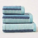 BLUE AND LIGHT BLUE JACQUARD TOWEL 100% COTTON TOWELS HIGH QUALITY HAND TOWEL BATH TOWEL BATH SHEET