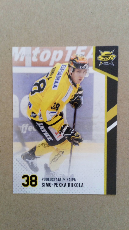 2014-15 Cardset Finland #112 Simo-Pekka Riikola SaiPa Lappeenranta