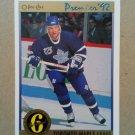 1991-92 O-Pee-Chee Premier #185 Brian Bradley Toronto Maple Leafs