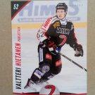 2015-16 Cardset Finland #243 Valtteri Hietanen JYP Jyvaskyla