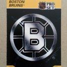 1990-91 Pro Set #566 Boston Bruins Logo Team Facts