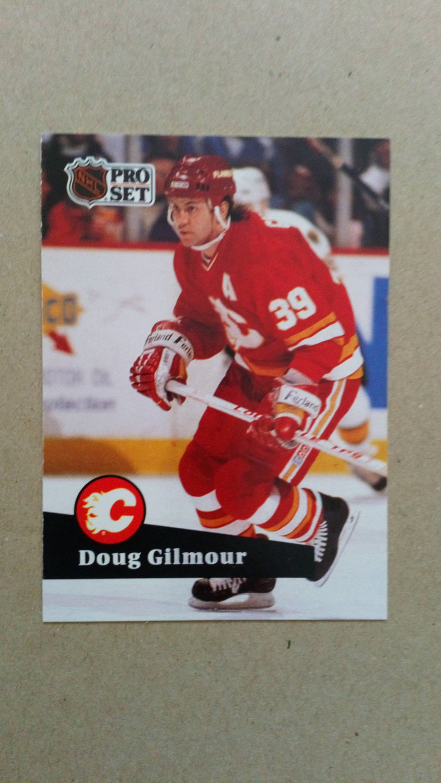 1991-92 Pro Set French #34 Doug Gilmour Calgary Flames