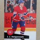 1991-92 Pro Set French #124 J.J. Daigneault Montreal Canadiens