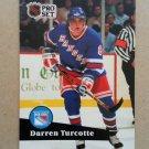 1991-92 Pro Set #160 Darren Turcotte New York Rangers