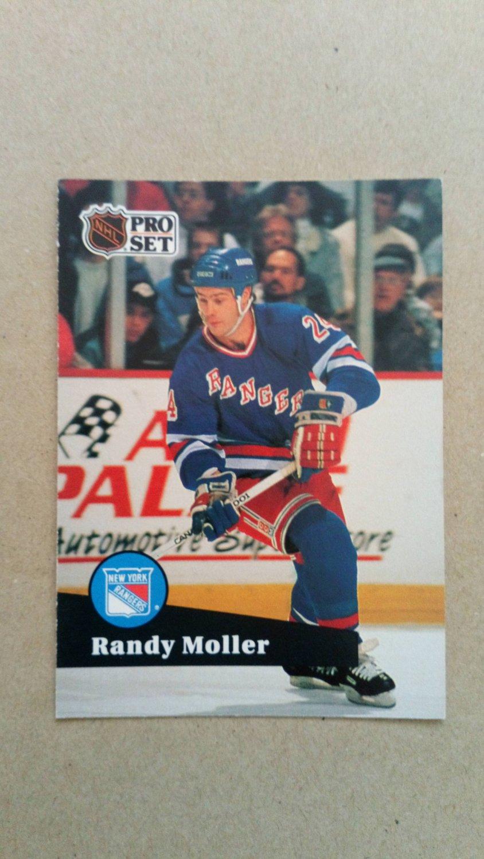 1991-92 Pro Set #163 Randy Moller New York Rangers