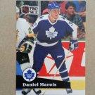1991-92 Pro Set #223 Daniel Marois Toronto Maple Leafs