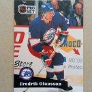 1991-92 Pro Set #264 Fredrik Olausson Winnipeg Jets
