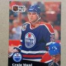 1991-92 Pro Set #382 Craig Muni Edmonton Oilers