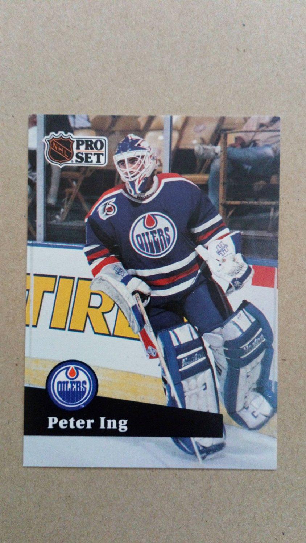 1991-92 Pro Set #388 Peter Ing Edmonton Oilers