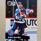 1991-92 Pro Set #468 John Kordic Quebec Nordiques