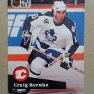 1991-92 Pro Set #495 Craig Berube Calgary Flames