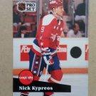1991-92 Pro Set #513 Nick Kypreos Washington Capitals