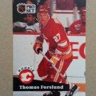 1991-92 Pro Set #527 Thomas Forslund Calgary Flames Rookie