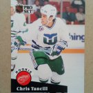 1991-92 Pro Set #539 Chris Tancill Detroit Red Wings Rookie