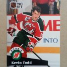 1991-92 Pro Set #548 Kevin Todd New Jersey Devils Rookie