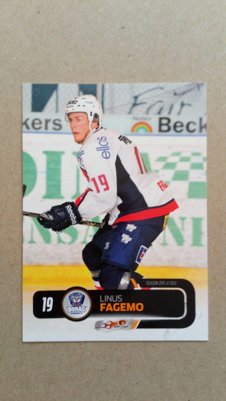 2011-12 City-Press HockeyAllsvenskan #ALLS-052 Linus Fagemo Boras HC
