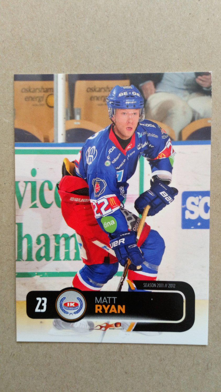 2011-12 City-Press HockeyAllsvenskan #ALLS-146 Matt Ryan IK Oskarshamn